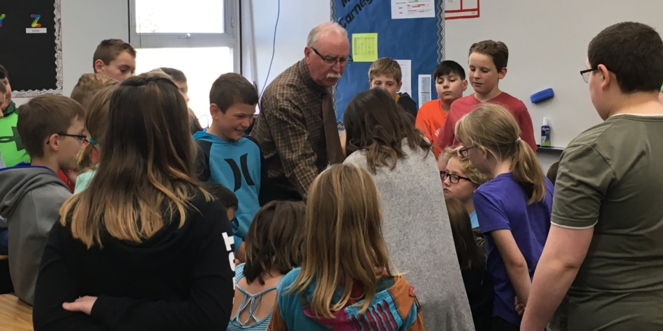 Mr. McDonald Back From Retirement still Engaging Students