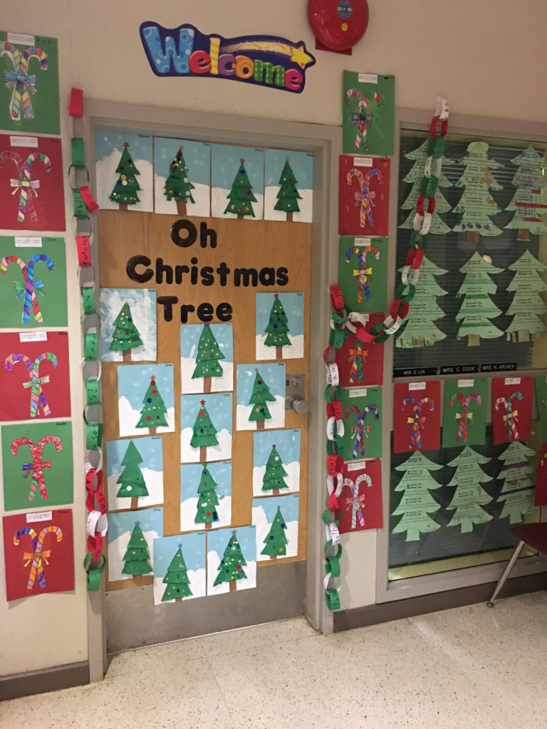 Christmas Tree Display Board.Bulletin Board 6 Ecole Westlock Elementary School