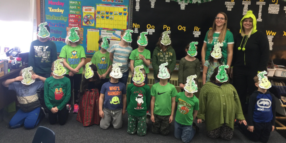 Grinch Day in Grade 1C