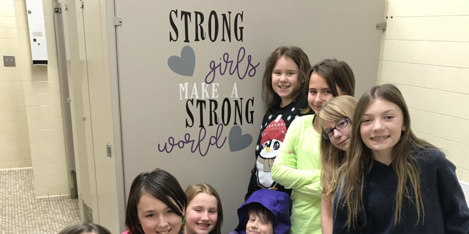 Glow girls at WES – Empowering Words for Girls