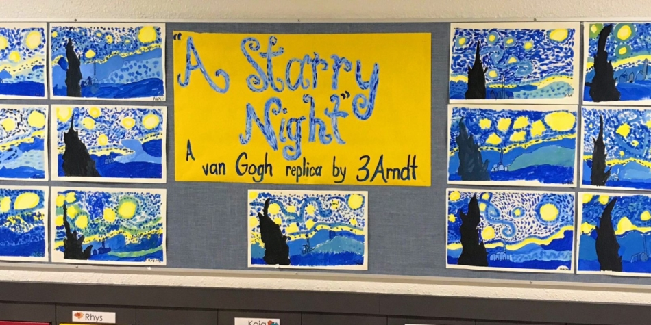 Grade 3A – A Starry Night Art Project
