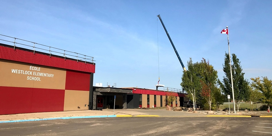 Work continues on our school roof